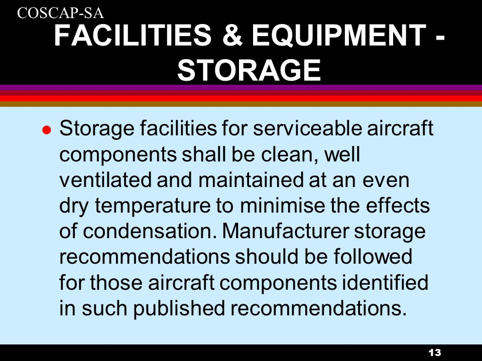 FACILITIES & EQUIPMENT -STORAGE