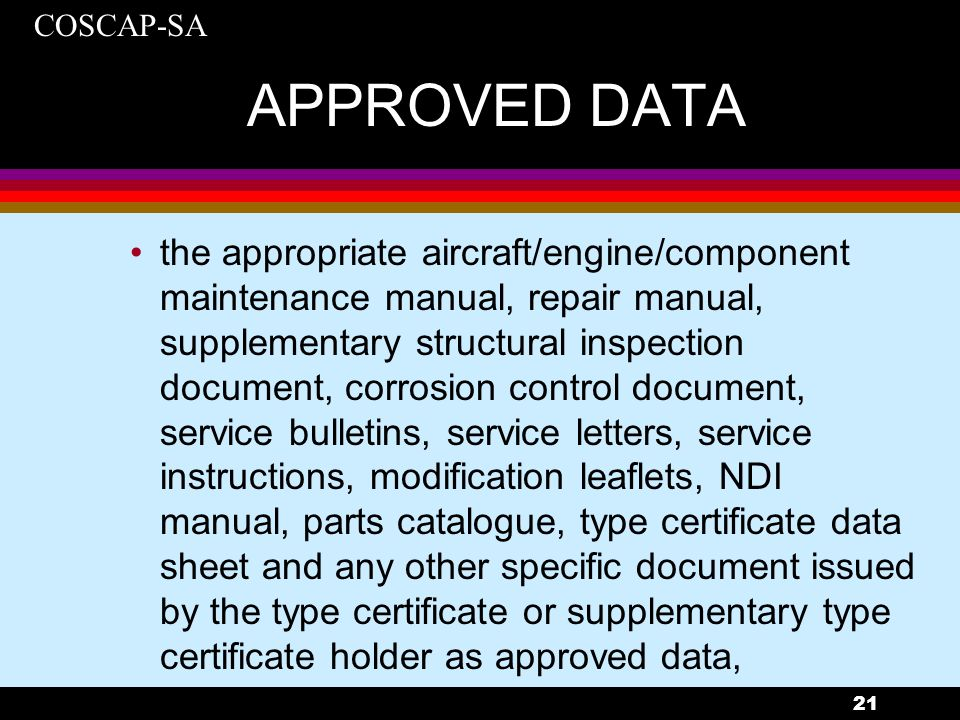 APPROVED DATA