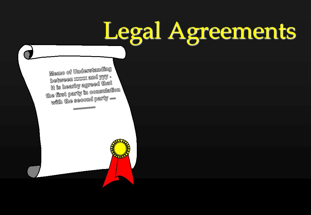 Legal Agreements Memo of Understanding between xxxx and yyy .
