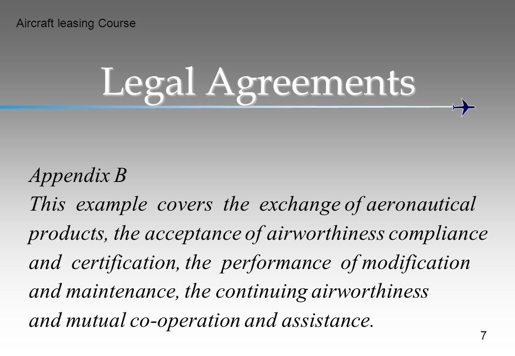 Legal Agreements Appendix B