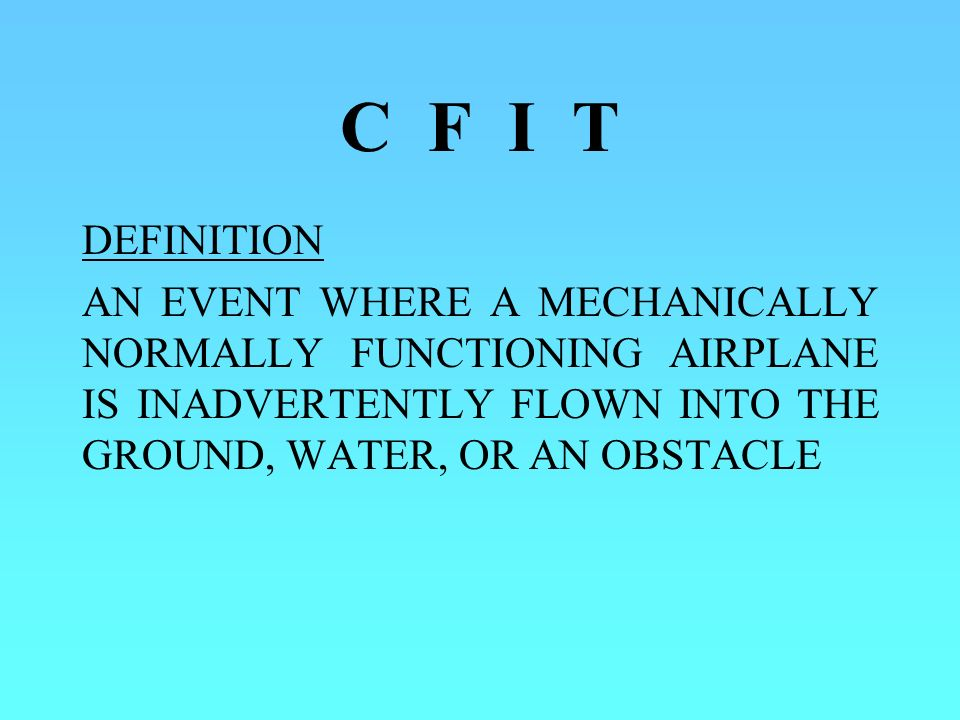 C F I T DEFINITION.