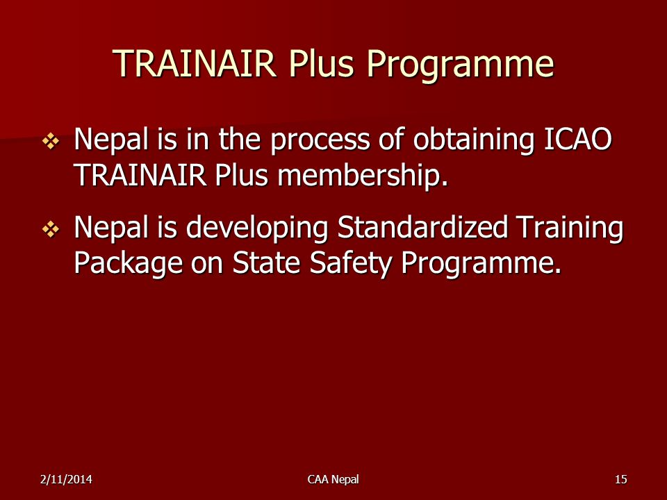 TRAINAIR Plus Programme
