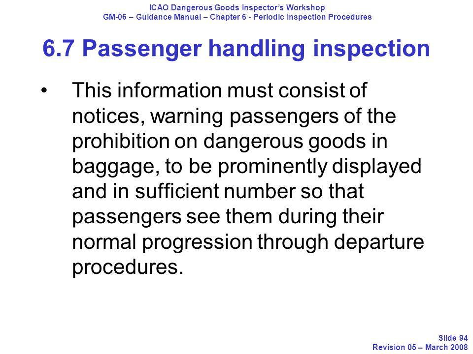 icao dangerous goods inspector workshop ppt download rh slideplayer com Manual Handling and Lifting passenger service manual lufthansa