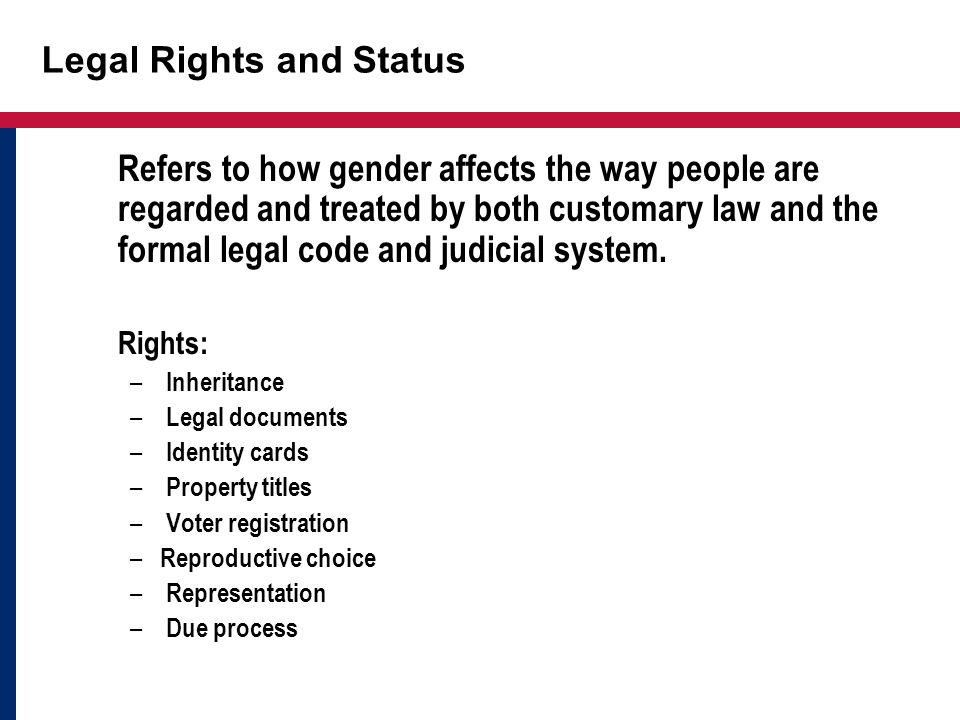 Legal Rights and Status
