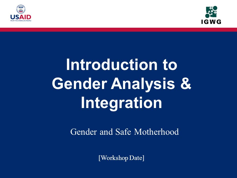 Gender and Safe Motherhood