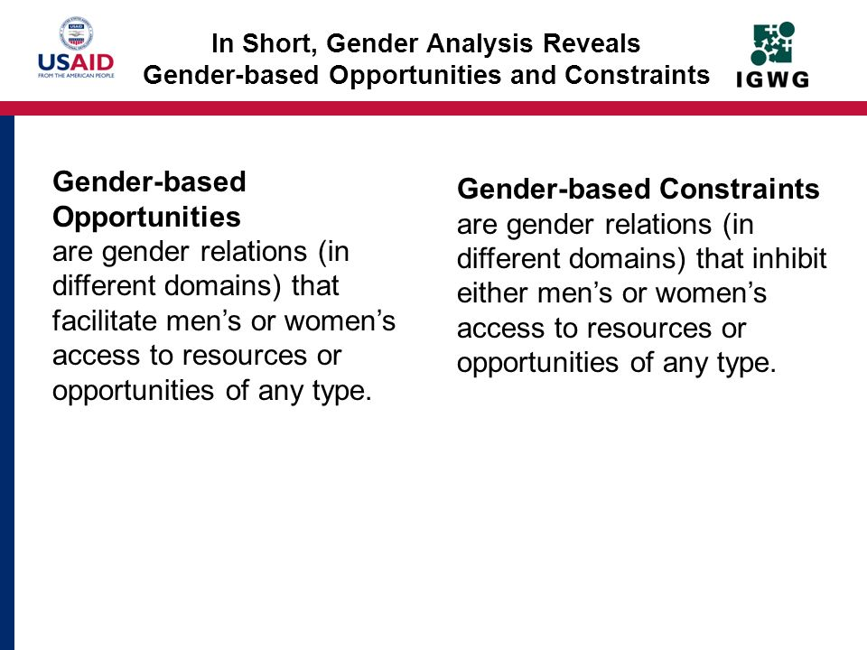 Gender-based Opportunities