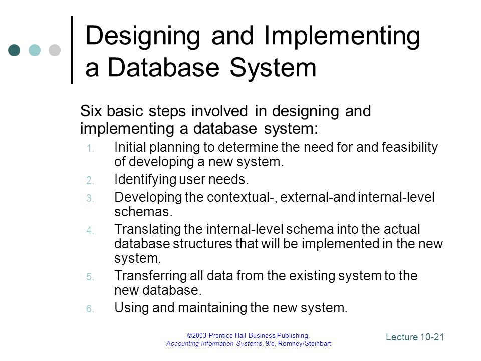 Designing and Implementing a Database System
