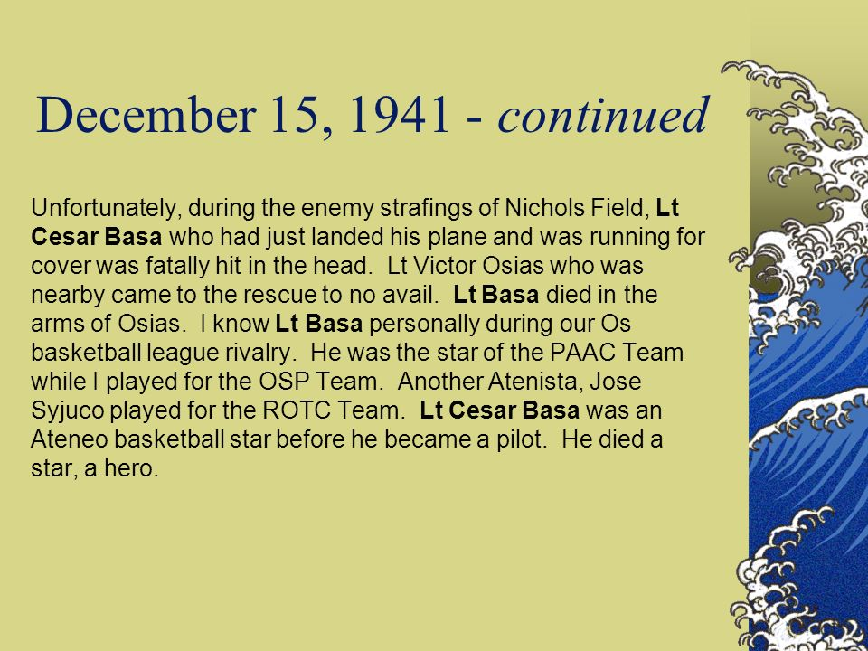 December 15, 1941 - continued