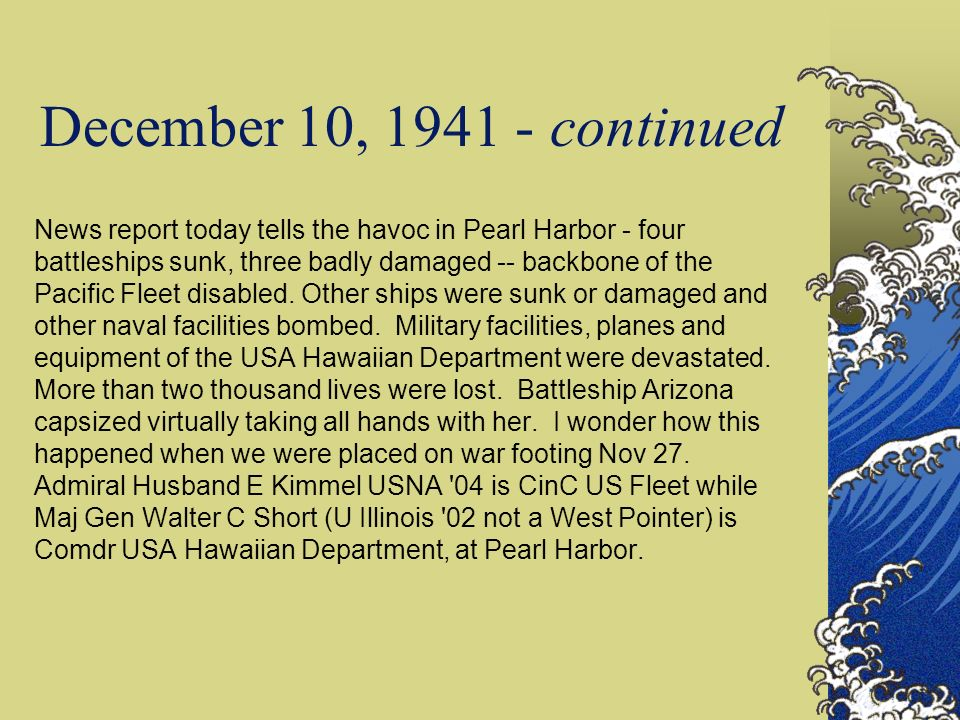 December 10, 1941 - continued