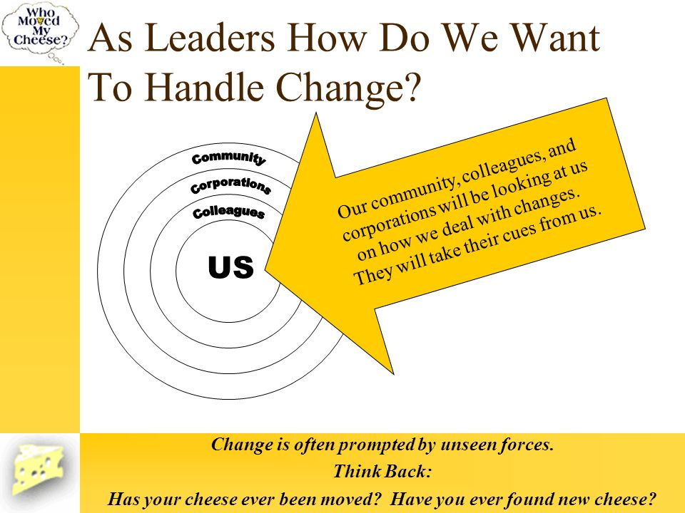 As Leaders How Do We Want To Handle Change