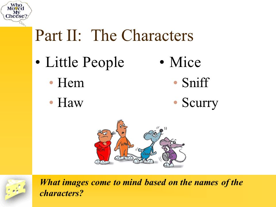Part II: The Characters