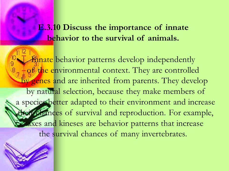 E.3.10 Discuss the importance of innate