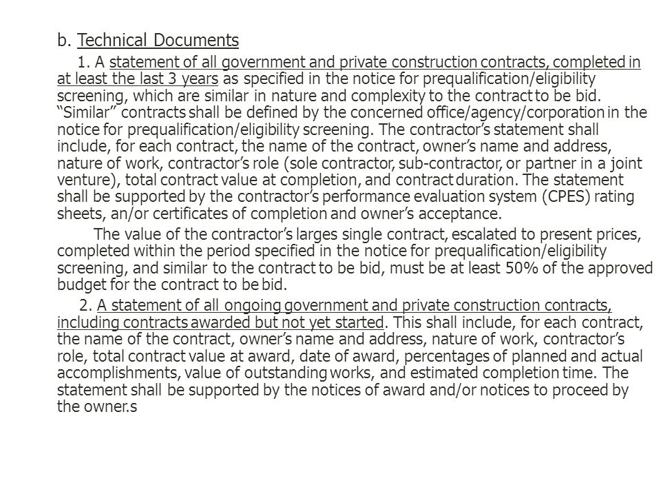 b. Technical Documents