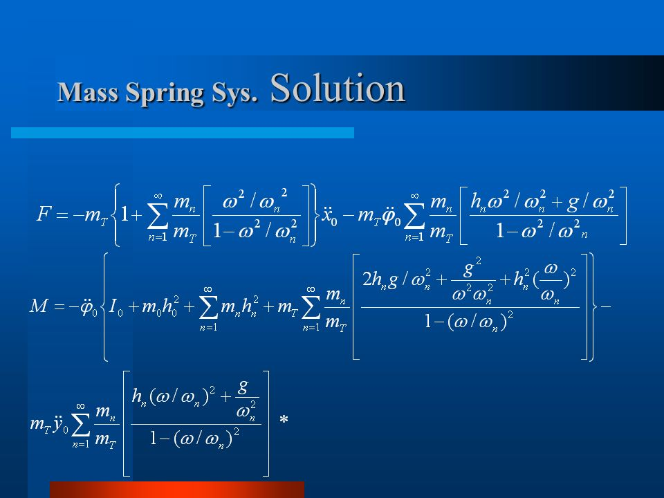 Mass Spring Sys. Solution