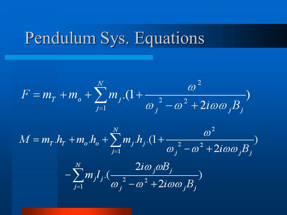 Pendulum Sys. Equations