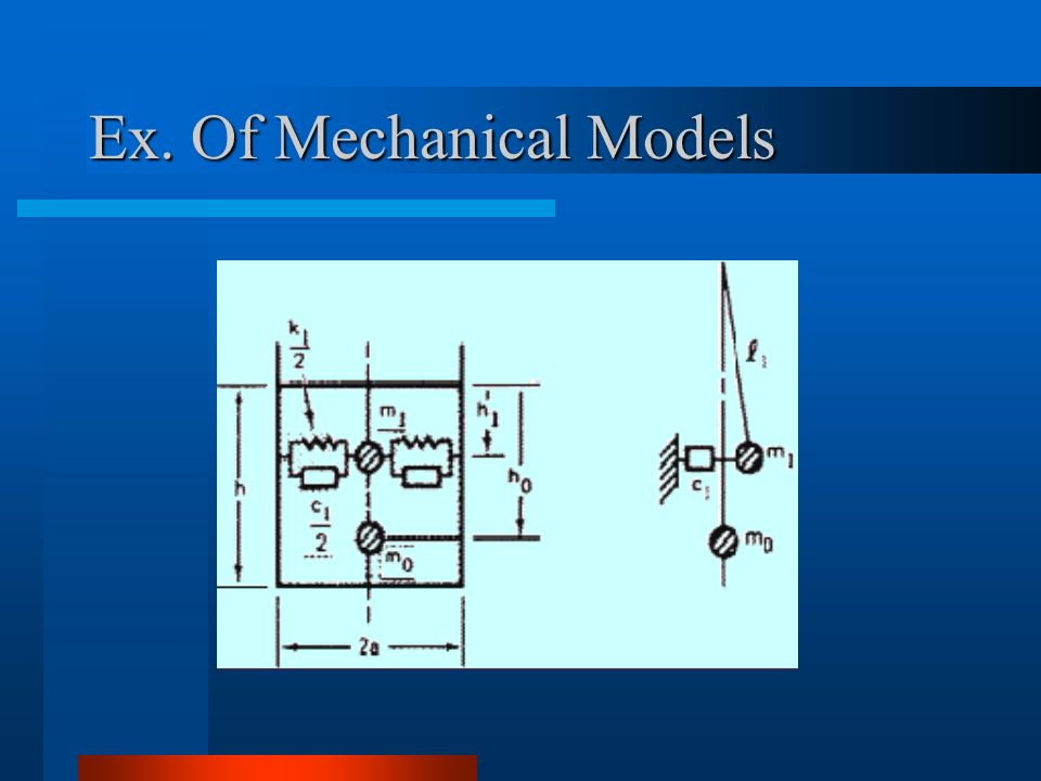 Ex. Of Mechanical Models