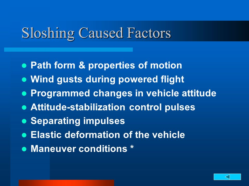Sloshing Caused Factors