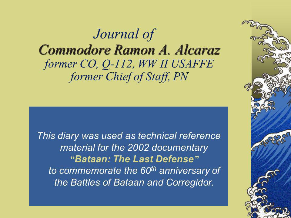 Journal of Commodore Ramon A