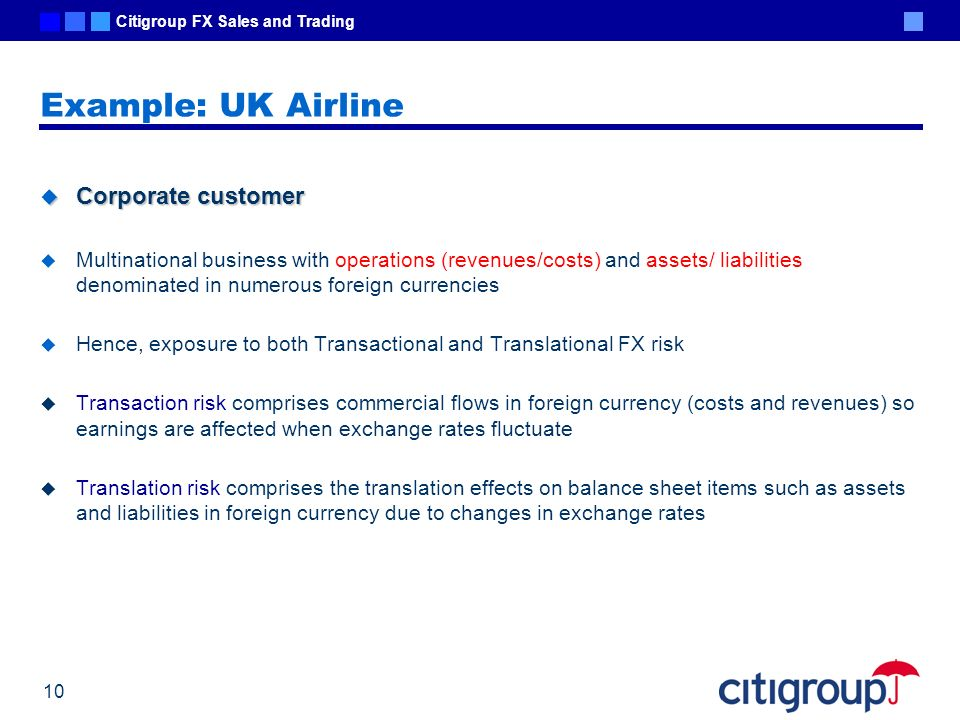 Example: UK Airline Corporate customer