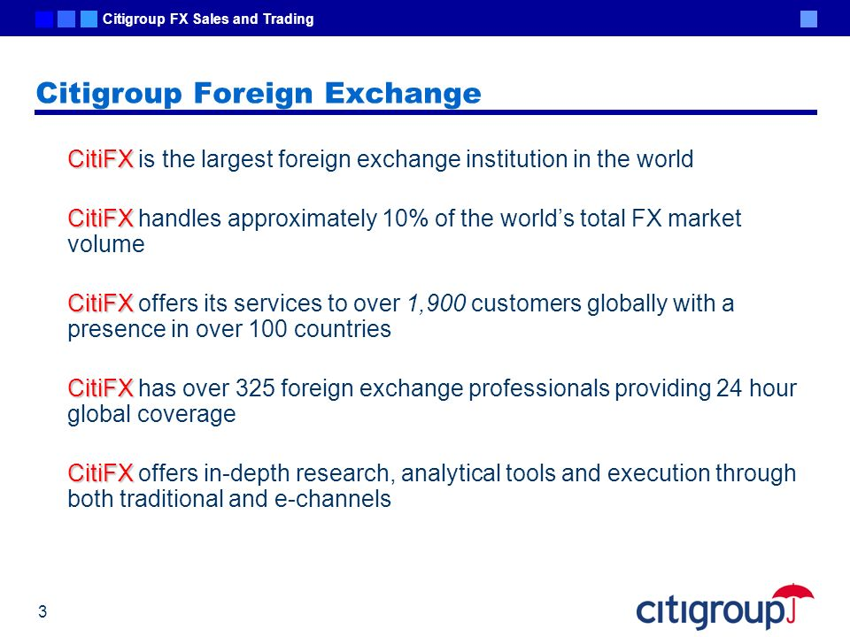 Citigroup Foreign Exchange