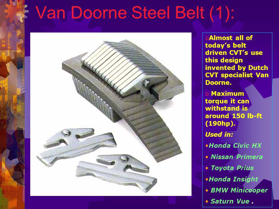 Continuously Variable Transmissions (CVT): - ppt video