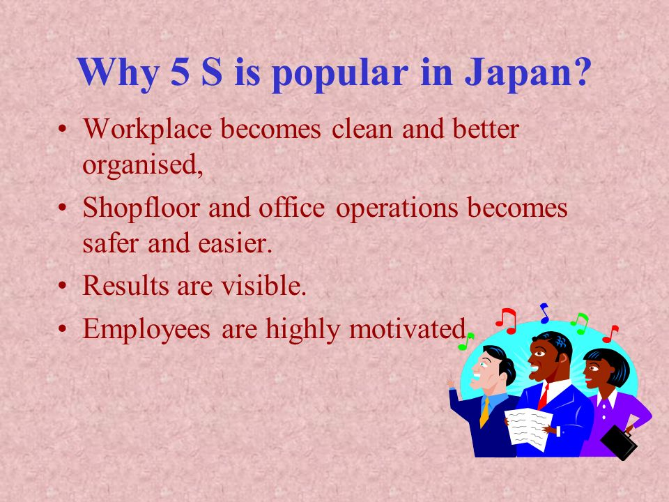 Why 5 S is popular in Japan