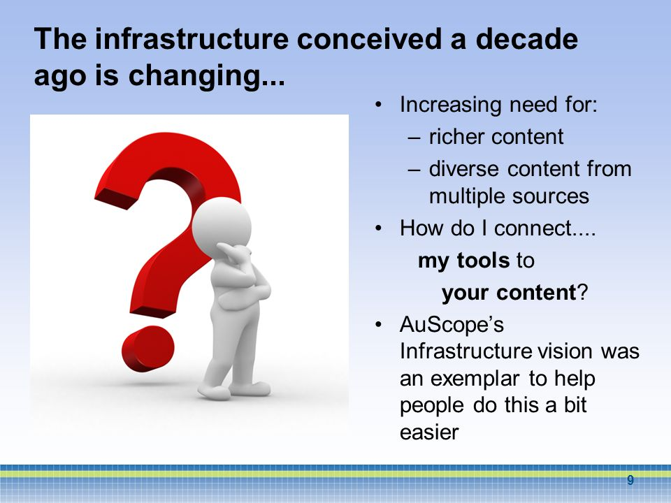 The infrastructure conceived a decade ago is changing...