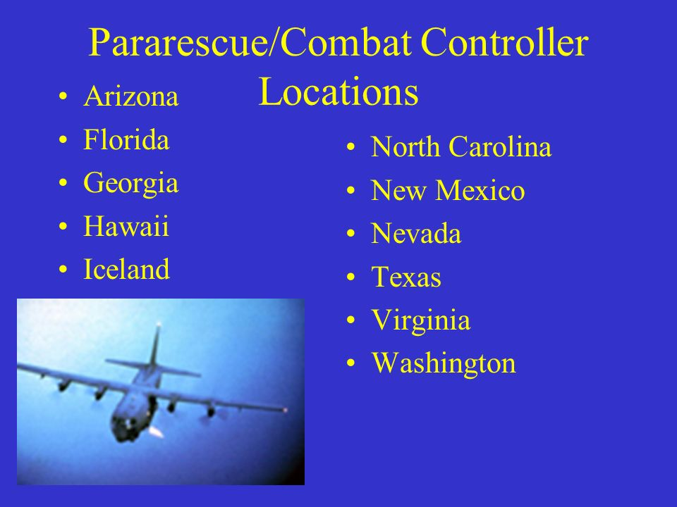 Pararescue/Combat Controller Locations