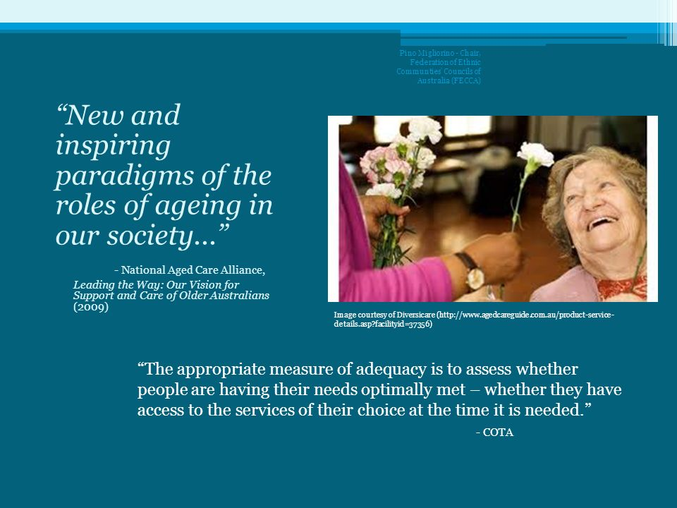 New and inspiring paradigms of the roles of ageing in our society