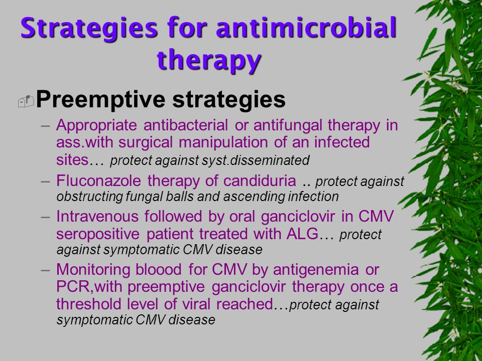 Strategies for antimicrobial therapy