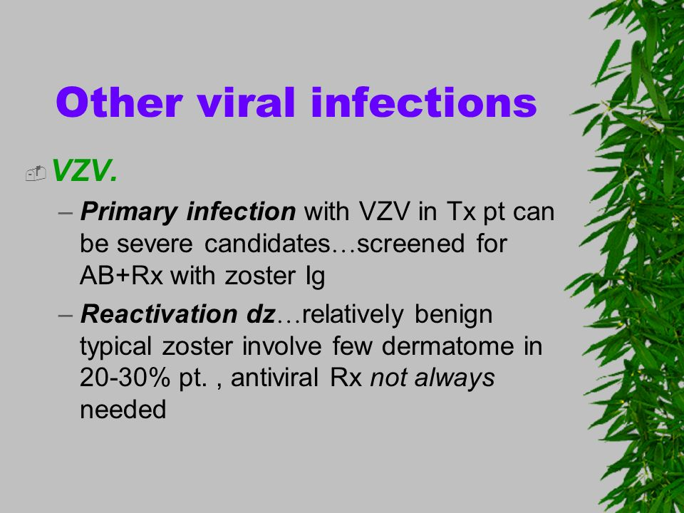 Other viral infections