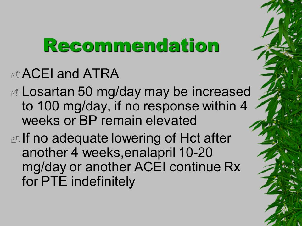 Recommendation ACEI and ATRA