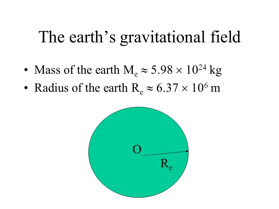 The earth's gravitational field