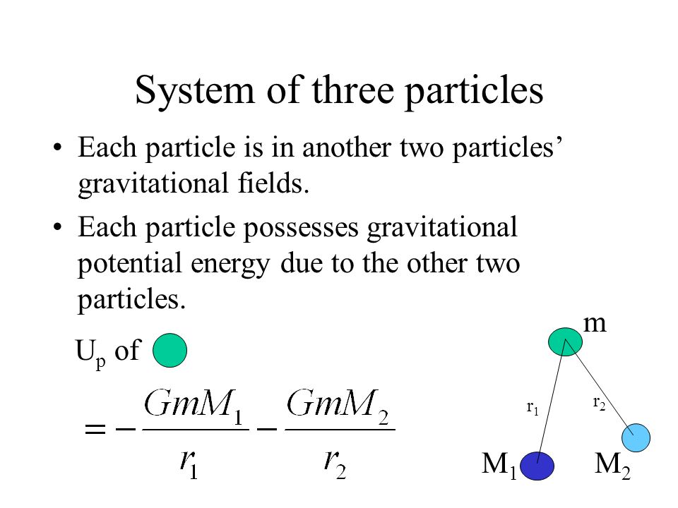 System of three particles