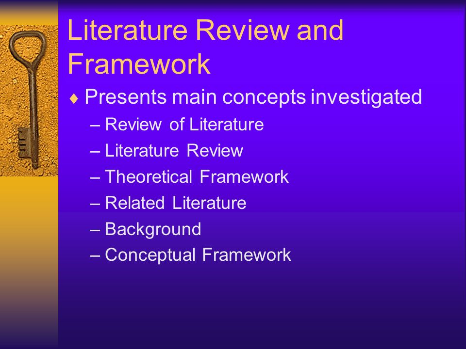 Literature Review and Framework