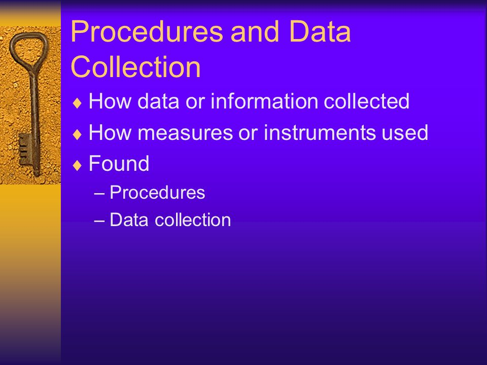 Procedures and Data Collection