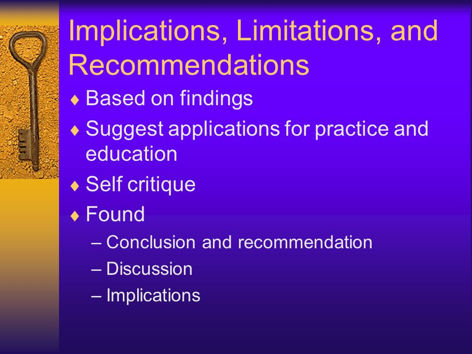 Implications, Limitations, and Recommendations