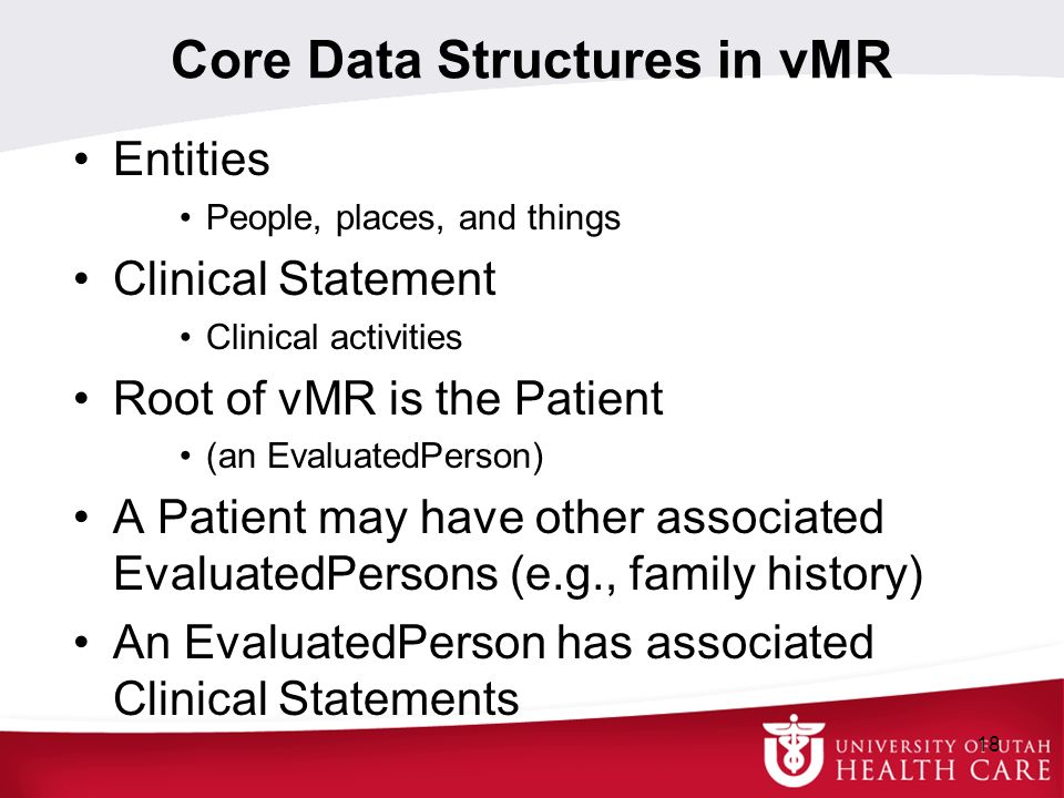 Core Data Structures in vMR