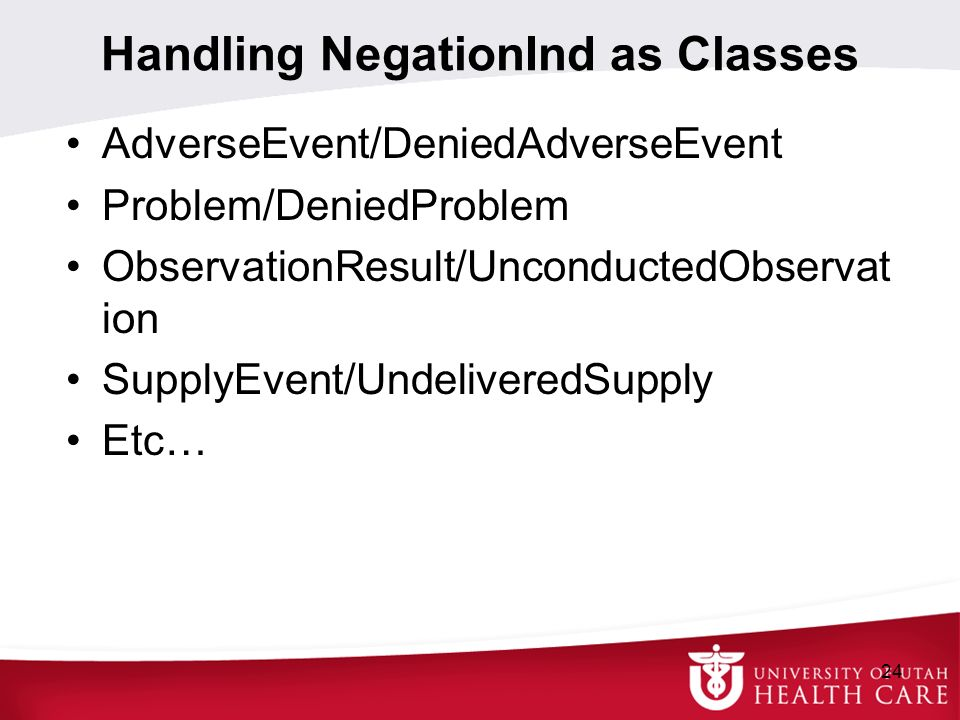 Handling NegationInd as Classes