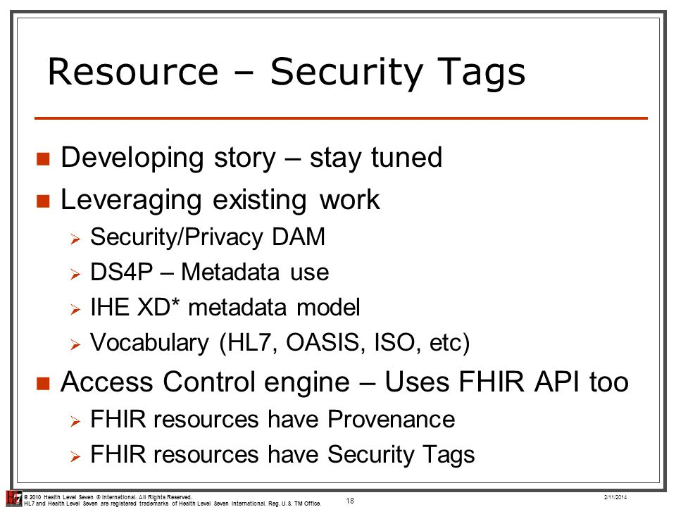 Resource – Security Tags