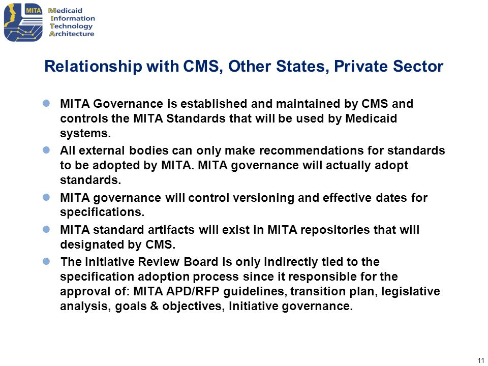 Relationship with CMS, Other States, Private Sector