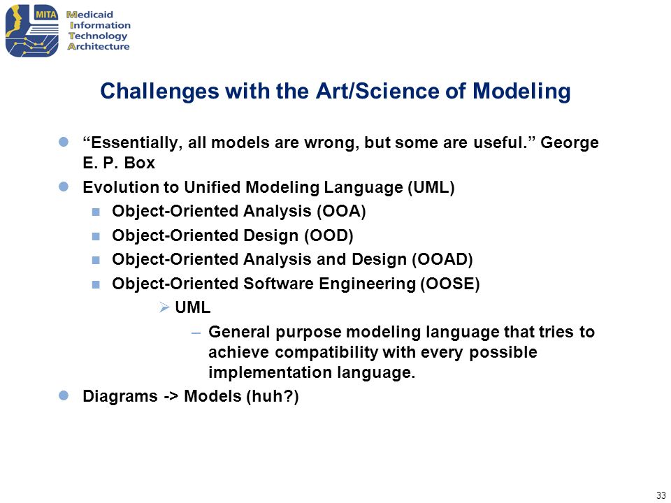 Challenges with the Art/Science of Modeling