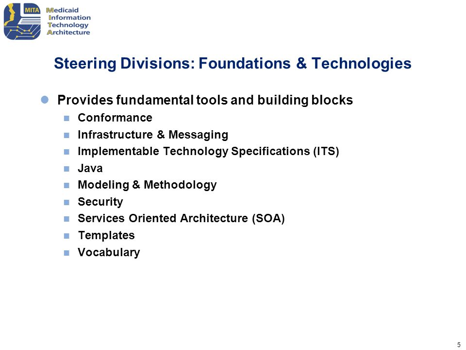 Steering Divisions: Foundations & Technologies