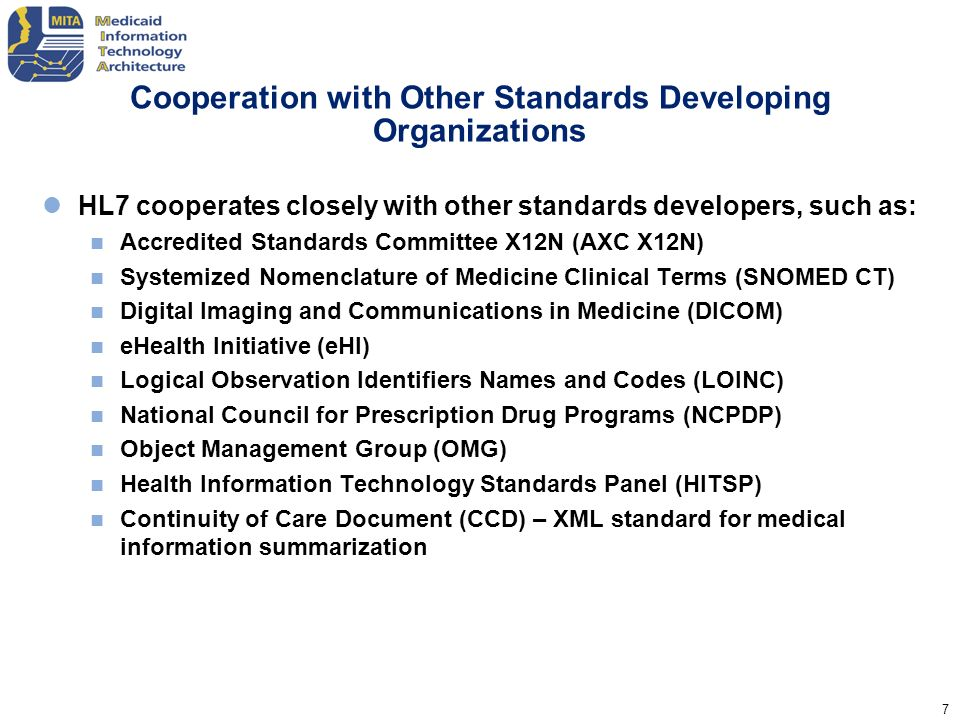 Cooperation with Other Standards Developing Organizations