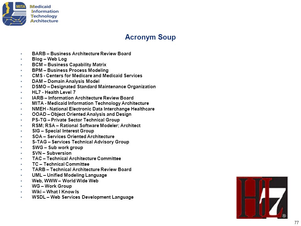 Acronym Soup BARB – Business Architecture Review Board Blog – Web Log