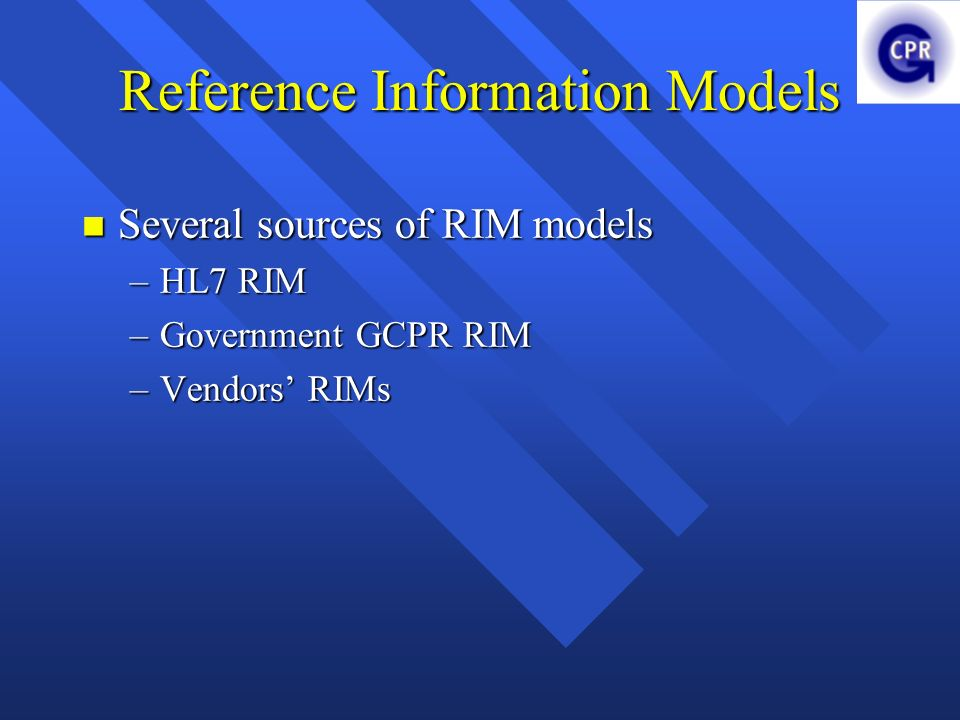 Reference Information Models