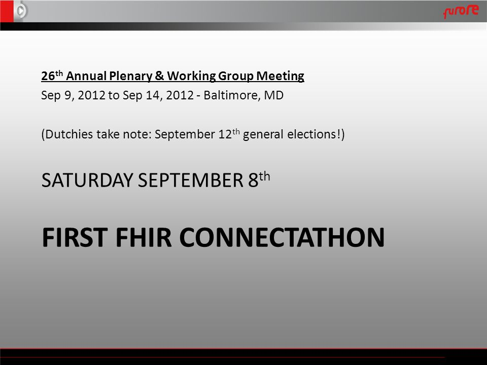 FIRST FHIR CONNECTATHON