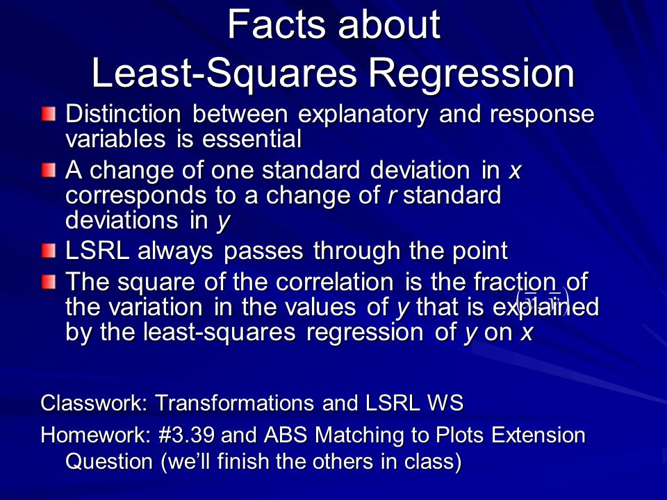 Facts about Least-Squares Regression