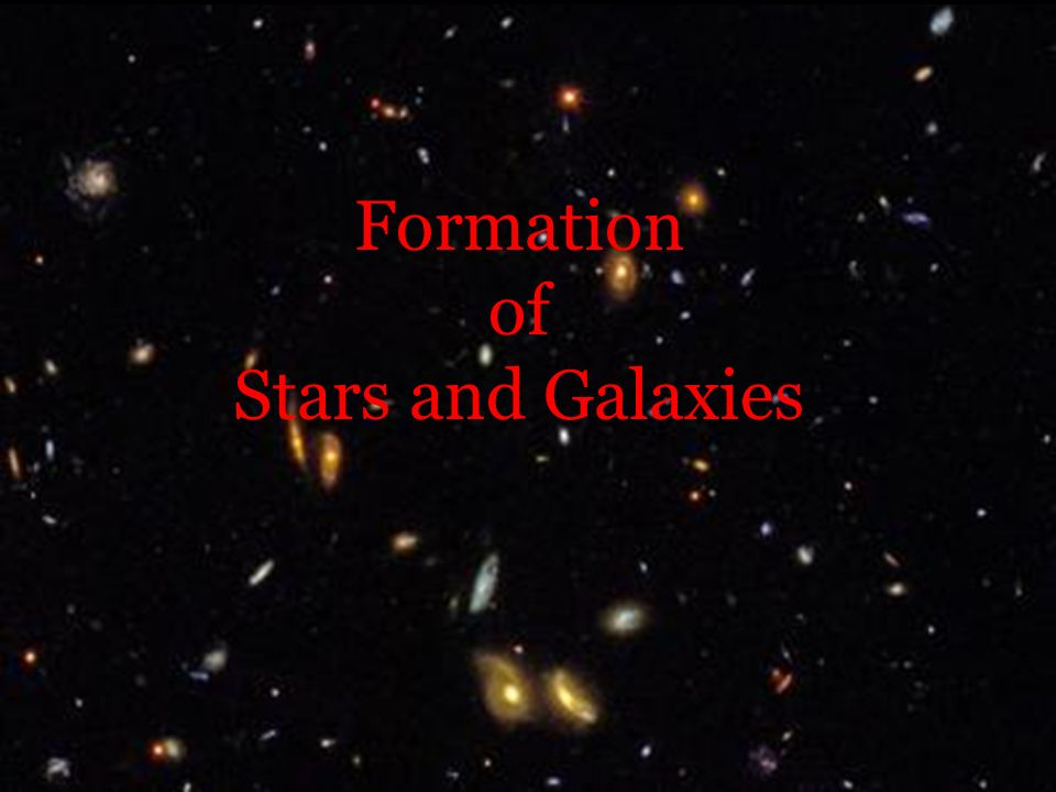 Formation of Stars and Galaxies