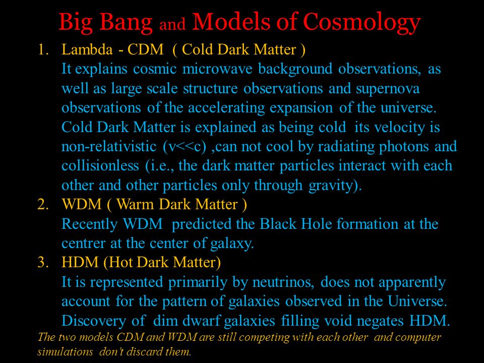 Big Bang and Models of Cosmology